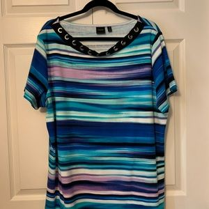 Rafaella Short Sleeve Top. 3x NWOT